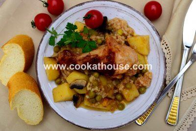 пилешко месо със зеленчуци