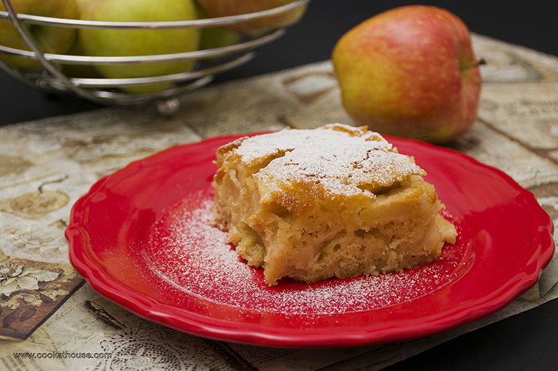 маслен ябълков сладкиш