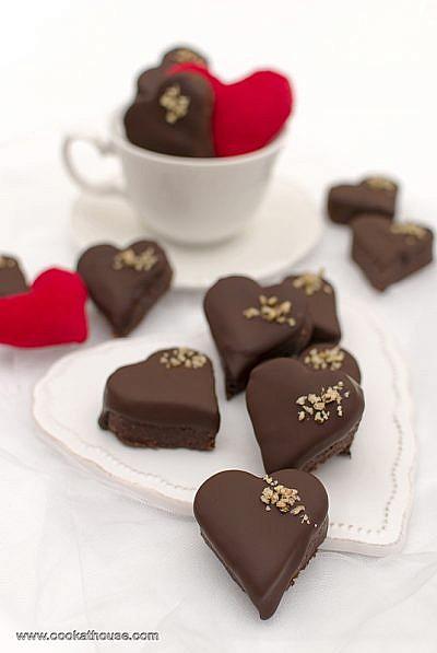 шоколадови сърца